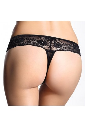 Chilot croiala tanga Sylvia Black 2pack