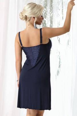 Camasa de noapte Gina Navy blue