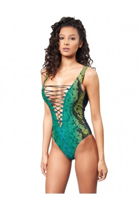 Costum de baie ETERNITY SNAKE GREEN